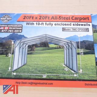 20' x 20' Steel Enclosed Carport