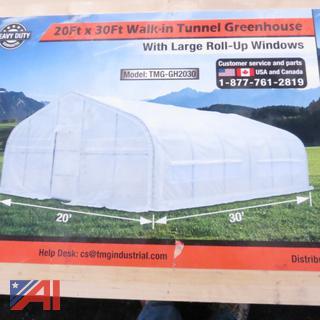20' x 30' Walk-in Tunnel Greenhouse