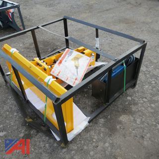 Skid Steer Hydraulic Post Driver