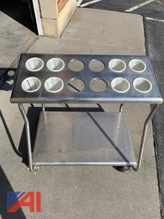Silverware Tray Cart On Wheels