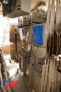 Krueger Padded Folding Chairs on Rack