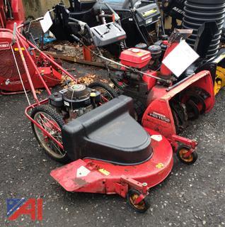 (#6) Honda HS 1132 Snow Blower and MTD Yard Machines Lawn Mower