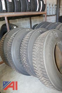 (#2) 11R22.5 Tires and Rims