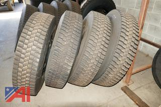 (#3) 11R22.5 Tires and Rims