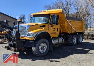 2003 International 7600 10 Wheel Dump Truck with Plow and Wing