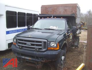 2001 Ford F550 Dump/Sander Truck with Chip Box