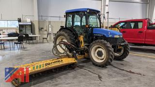 """2003 New Holland TN70D Tractor with Alamo 74"""" Flail Mower"""