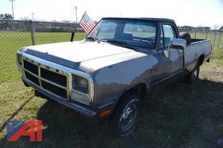 (#3) 1992 Dodge Ram 150 Pickup Truck
