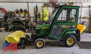 2014 John Deere X738 Mower with Cab and Attachments