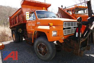 (#4) 1988 Ford F800F Dump Truck
