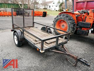 2002 Single Axle 8' Utility Trailer with Ramp