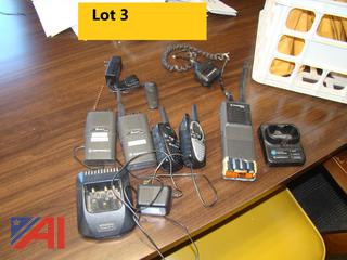 Assorted Radios and Chargers