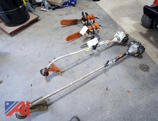 (4) Pc String Trimmers & Chain Saws