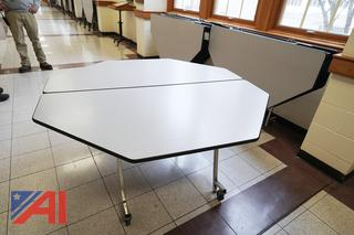 (22) Virco Roll & Fold Tables