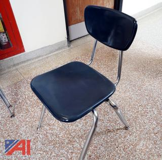 Virco Blue Student Chairs