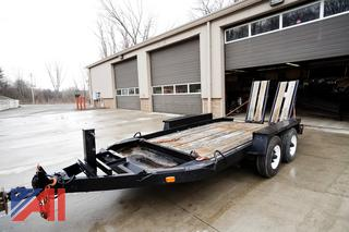 2010 12' Homemade Tandem Axle Equipment Trailer with Ramps