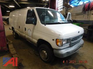 (#811) 1998 Ford E350 Super Extended Cargo Van