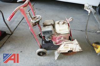 (#3) Wedge Walk Behind Concrete Saw