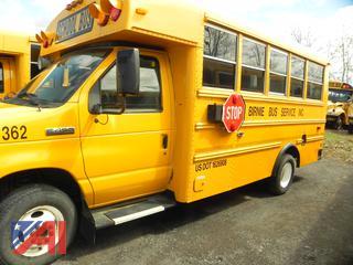 (#V362) 2009 Ford E450 Mini School Bus with Wheelchair Lift