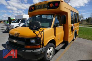 (#1019) 2009 Chevy Express LS 3500 Mini School Bus