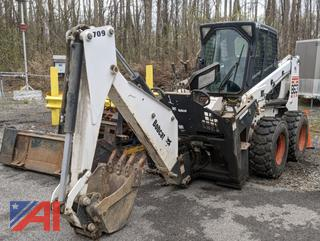 2002 Bobcat 863H Skid Steer Loader with Attachments