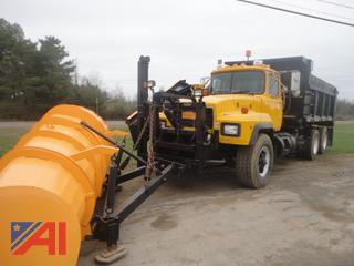 2000 Mack RD690S Dump Truck with Plow, Wing and Spreader
