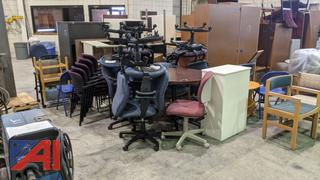 Large Assortment of Office Furnishings and Equipment