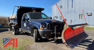 2004 Ford F550 Dump Truck with Plow and Spreader