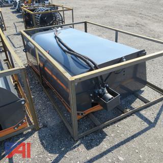 """Skid Steer 72"""" Hydraulic Sweeper"""