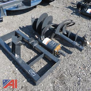 "Skid Steer 72"" Hydraulic Drill and Augers"