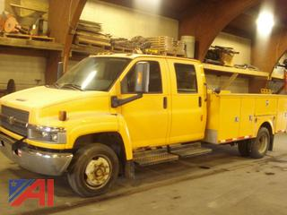 2009 GMC 5500 Crew Cab Utility Truck