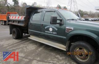 (#1) 2008 Ford F350 Super Duty Crew Cab Dump Truck