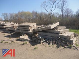 Cut Concrete Slab Sections