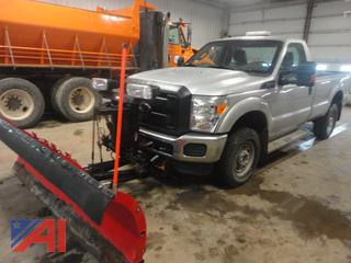 2015 Ford F250 XL Super Duty Pickup Truck with Plow