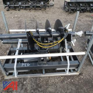Skid Steer Hydraulic Drill with Augers