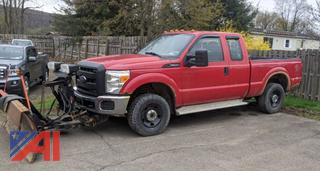 2013 Ford F250 XLT Super Duty Extended Cab Pickup Truck with Plow