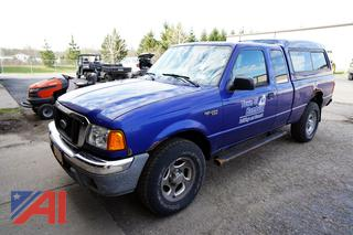 2004 Ford Ranger Extended Cab Pickup Truck with Cap/N1