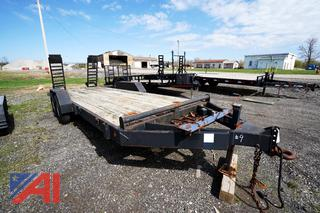 2003 MSA/General Welding 20' x 6 1/2' Flat Bed Trailer with Folding Ramps/8