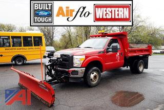 2012 Ford F350 XLT Super Duty Dump Truck with Plow