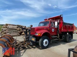 2001 International 4800 Dump Truck with Plow & Side Sander