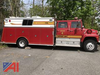 1987 Ford L8000 Fire Rescue Truck with Crew Cab
