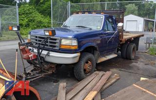 1997 Ford F350 Stake Rack Pickup Truck & Plow