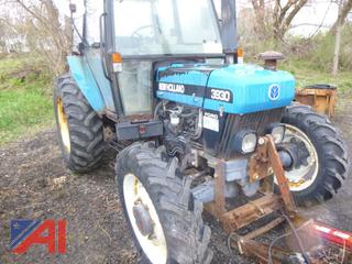 1998 New Holland 3930 Tractor with Plow
