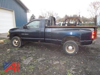 2005 Dodge Ram 3500 Pickup Truck with Plow