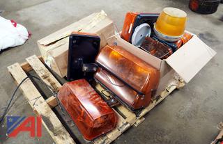 Skid Of Amber Truck Roof Lights