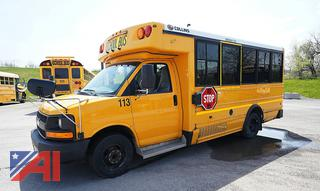 2012 Chevy Express 3500 Collins NEXBus/113 Mini School Bus