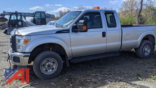 2013 Ford F250 XLT Super Duty Extended Cab Pickup Truck & Plow