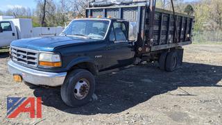 1997 Ford F450 Super Duty Stake Rack Dump Truck