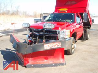 2009 Chevy Silverado 3500HD Pickup Truck with Plow and Spreader