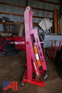 (#3) Central Hydraulics 8 Ton Super Heavy Duty Long Ram Jack